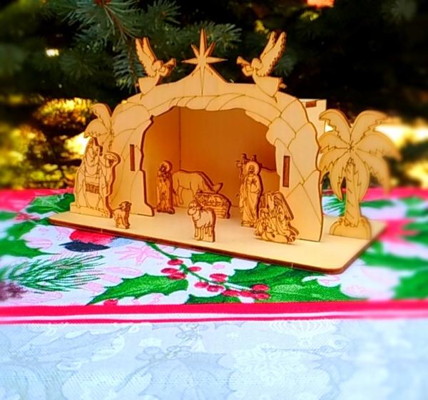 Вертеп «Сцена Рождества» (сборная деревянная модель)