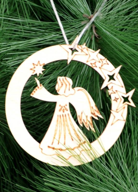 Подвеска на елку  (Ангел со звездами)