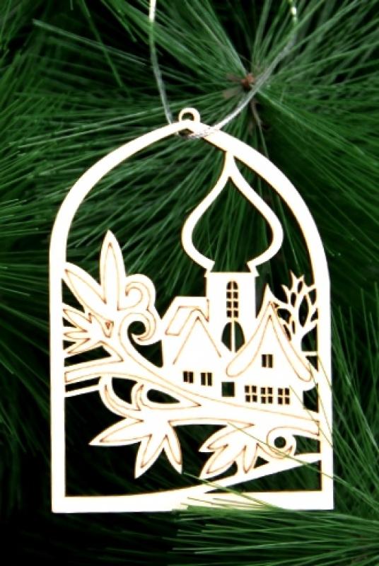 Игрушка на дерево (Рождественский российский мотив)
