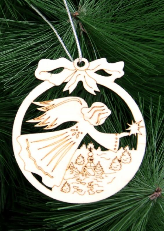 Игрушка на дерево (Летящий Ангел со звездой)