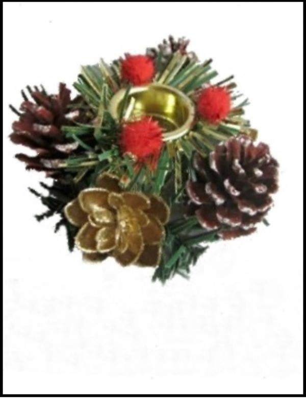 Подсвечник (Красный рождественский венок)