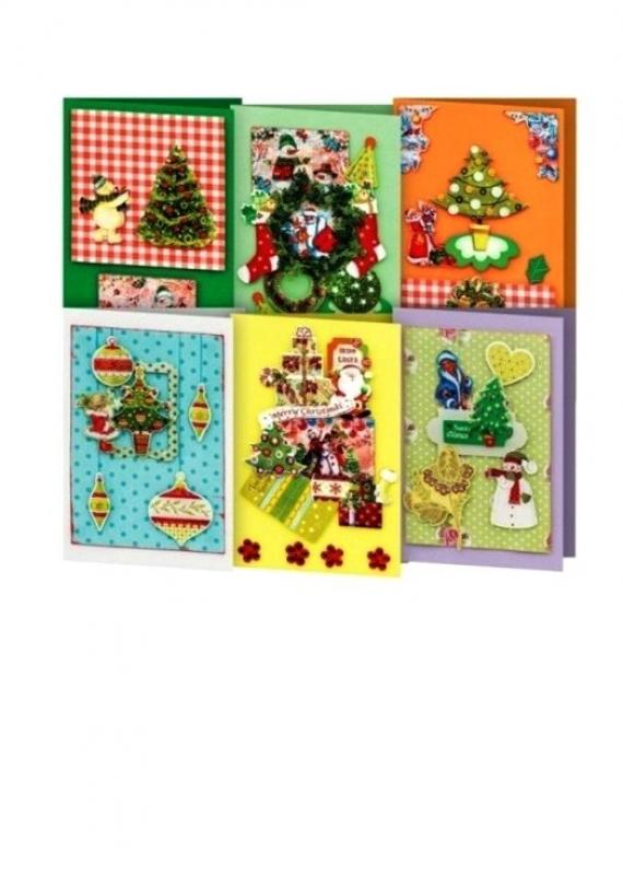 Набор для создания шести открыток к Рождеству