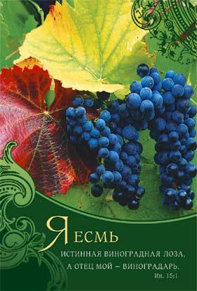 Блокнот 10х15 057 «Я есмь истинная виноградная лоза…»