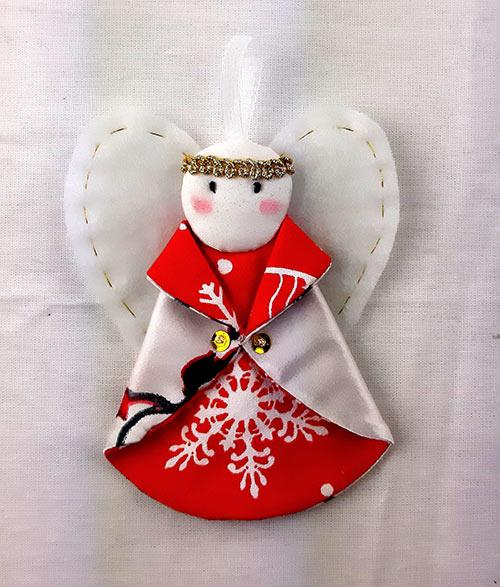 Рождественская игрушка «Ангел» (красный)