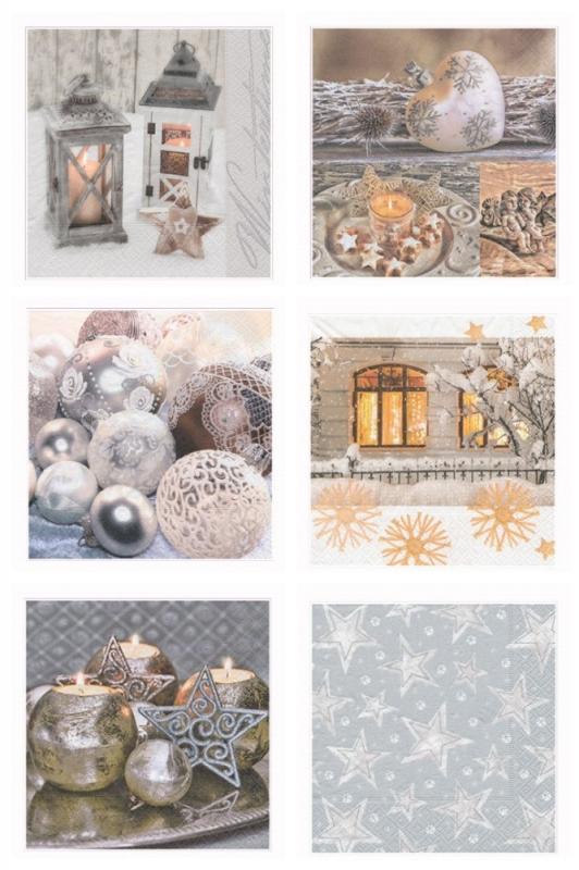 Набор бумажных салфеток для декупажа «Рождественская ночь»