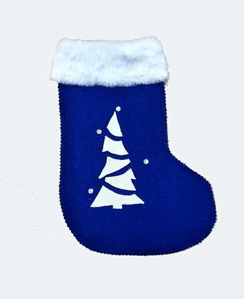 Рождественский сапожок синий