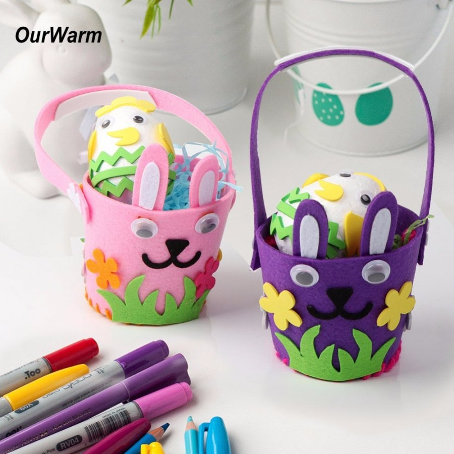 Пасхальная корзинка декоративная (фиолетовая)