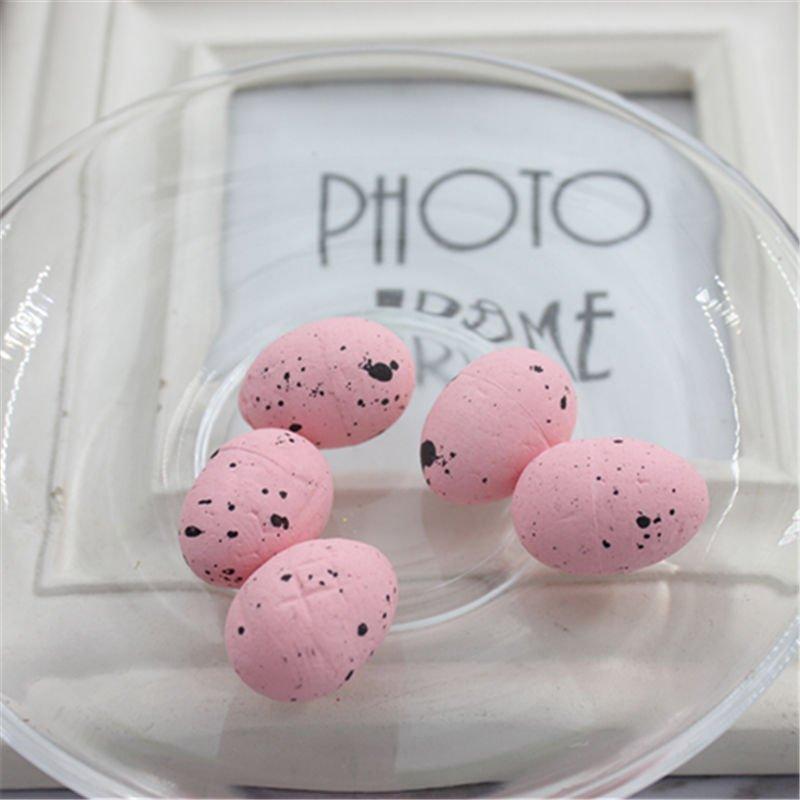 Пасхальный декор (Перепелиные яйца) 48 шт. Цвет розовый