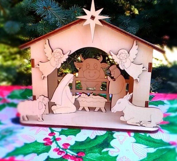 Рождественский вертеп (сборная деревянная модель)