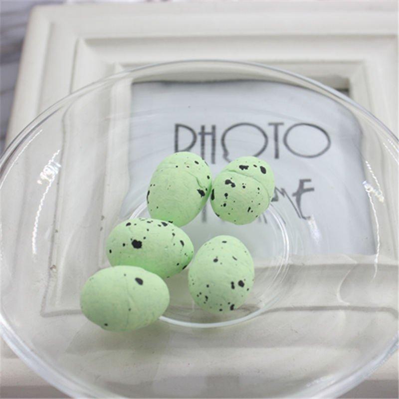 Пасхальный декор (Перепелиные яйца) 48 шт. Цвет зеленый