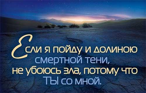 Магнит 064 «Если я пойду и долиною смертной тени…»