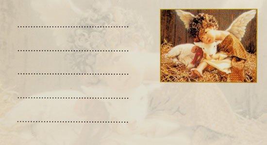 Набор универсальных визиток 001 «Ангел»