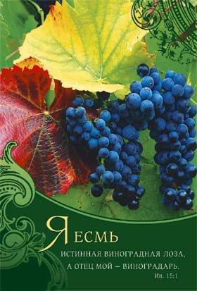 Блокнот 057-б «Я есмь истинная виноградная лоза…»