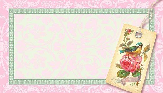 Набор универсальных визиток 004 «Синичка»