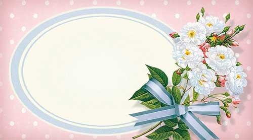 Набор универсальных визиток 009 «Цветы с виньеткой»