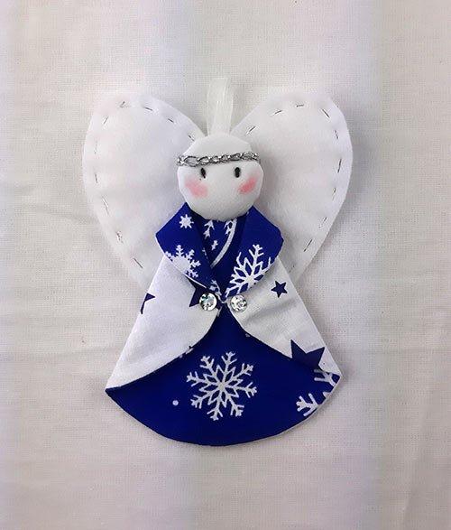 Рождественская игрушка «Ангел» (синий)