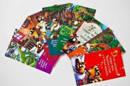 Набор мини-открыток «Звери чудесного леса» 004