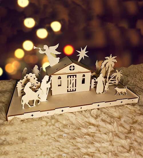 Вертеп «Рождественская история» (большая сборная деревянная модель)